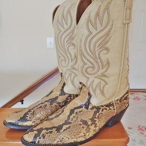 Python Men's Snakeskin Cowboy Boots 10 1/2